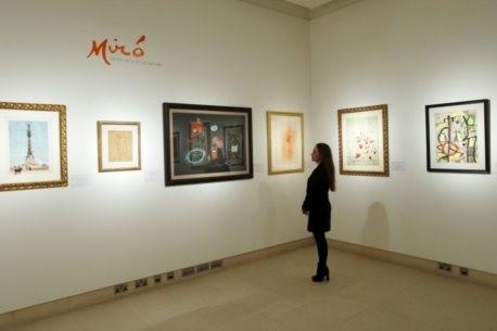 Exposição de quadros de Miró