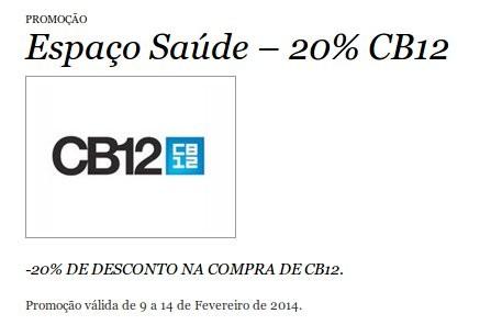 20% de desconto   EL CORTE INGLÉS   CB12 até 14 fevereiro