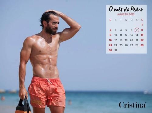 calendário Cristina Ferreira nadadores salvadores