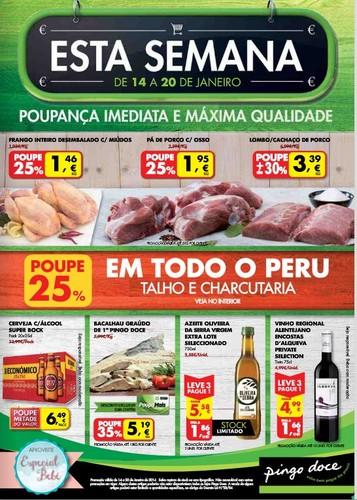 Folheto   PINGO DOCE   Online de 14 a 20 janeiro