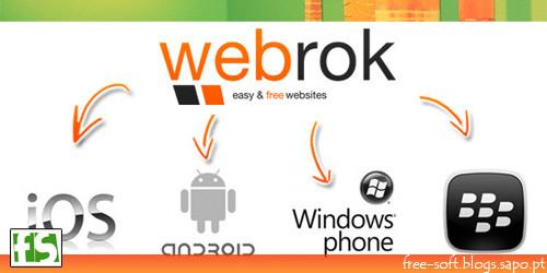 Webrok - Criar site grátis para telemóvel, criar site grátis para Android, Criar site grátis para iPhone ou iPad