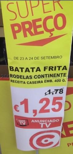 Batata Frita Rodelas Continente