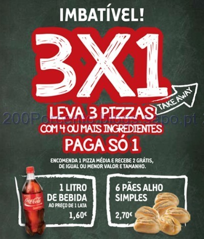 Leva 3 Pizzas Paga 1 L3P1