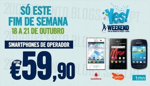 Fim de Semana   PHONE HOUSE  , 18 a 21 Outubro, smartphones desde 59€