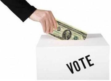 O dinheiro que mete nas urnas