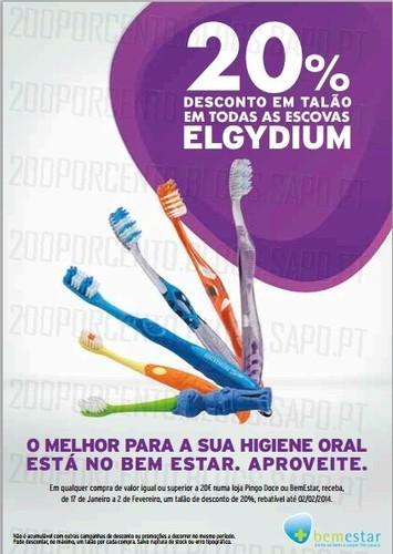 20% em talão   PINGO DOCE / BEMESTAR   Escovas Elgydium, de 17 janeiro a 2 fevereiro