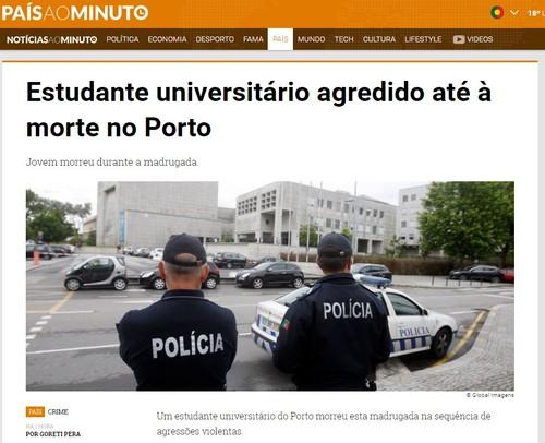 Jovem Baião espancado morte Porto FEUP Paranhos.j
