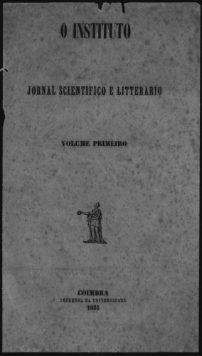 O Insituto. Volume Primeiro. 1853.jpg