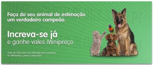 Passatempo ganha 50€ em compras   MINI PREÇO   Animais de estimação