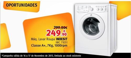 Promoção   JUMBO / BOX   Maquina Lavar Indesit só 16 e 17 novembro