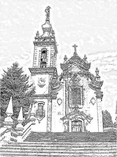 Igreja do Senhor Ecce Homo de Padornelo desenho.jp