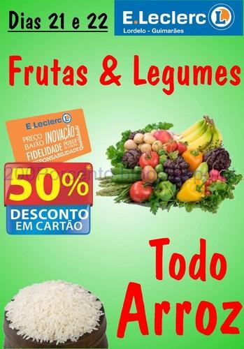 50% em Todo o arroz no E-Leclerc Lordelo