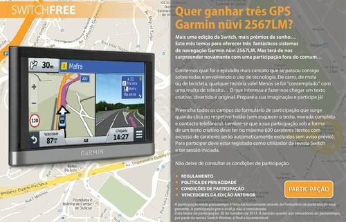 Passatempo Revista Switch, Ganha  3 GPS