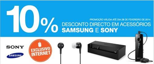 10% de desconto direto   EL CORTE INGLÉS   Acessórios, Samsung e Sony