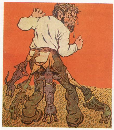 A exploração do povo, segundo caricatura do jorn