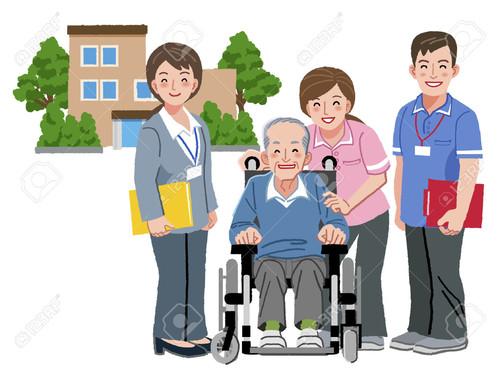38783314-Cheerful-elderly-person-in-wheelchair-wit