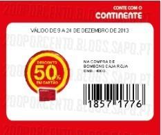 Acumulação 25% + 50% (Cupão)   CONTINENTE   Chocolates Nestlé, apenas dia 9 dezembro