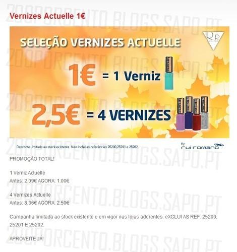 Promoção | RR CENTER | 2,5€ 4 Vernizes, até 31 Outubro