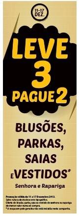 Leve 3 Pague 2 | CODE / PINGO DOCE | de 11 a 17 dezembro