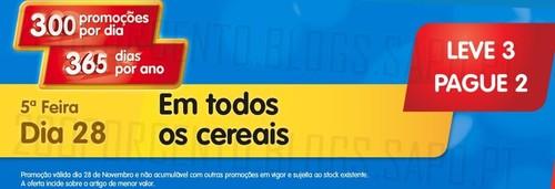 Leve 3 Pague 2   MINI PREÇO   dia 28 novembro, Quinta-Feira, Cereais