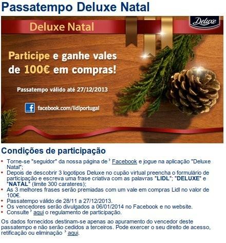 Passatempo Natal | LIDL |, até 27 dezembro