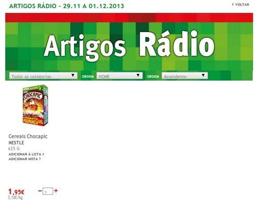 Destaques | JUMBO |, Artigos rádio e TV até dia 1 dezembro,