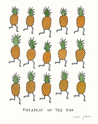Pineapples on the run - Marc Johns.jpg