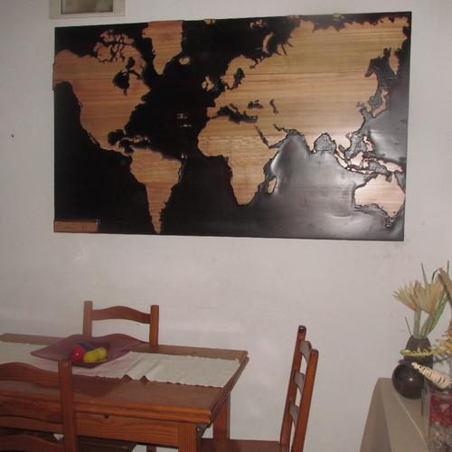 mapa mundo madeira Mapa Mundo esculpido em madeira Para Venda   Arte Da Madeira mapa mundo madeira