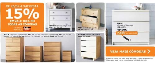 15% de desconto em vale | IKEA | de 26 fevereiro a 25 março