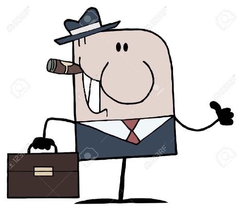 9681467-Cartoon-Doodle-Businessman-Holding-A-Thumb
