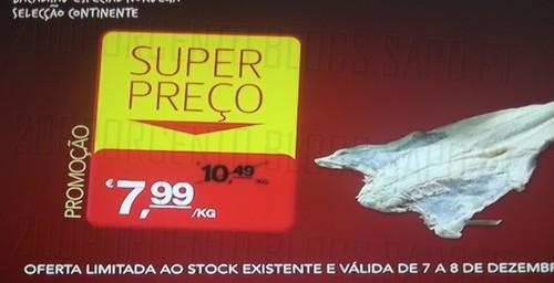 Super Preço   CONTINENTE   Bacalhau especial seleção continente, até 8 dezembro,