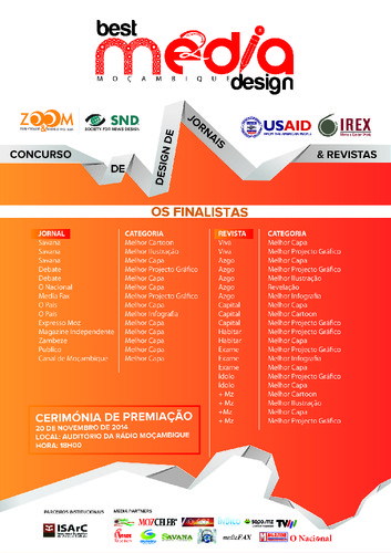 OS FINALISTAS DO BEST MEDIA DESIGN