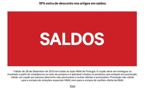 10% de desconto extra | H&M | Saldos