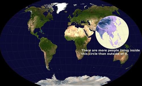 Mais pessoas vivem nesse círculo do que em qualqu