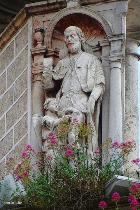 Aqueduto. Arco de S. Sebastião, imagem de S. Roqu