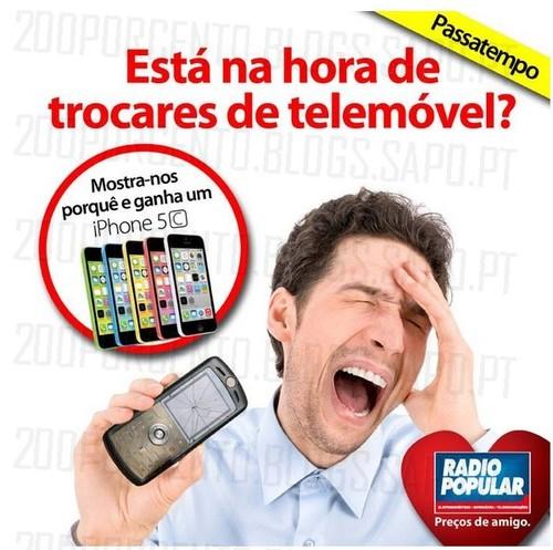 Passatempo Rádio Popular, ganha um Iphone 5C, de 18 a 22 Outubro, Participa