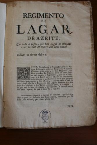 Regimento de Lagar de Azeite, fl. 1.JPG