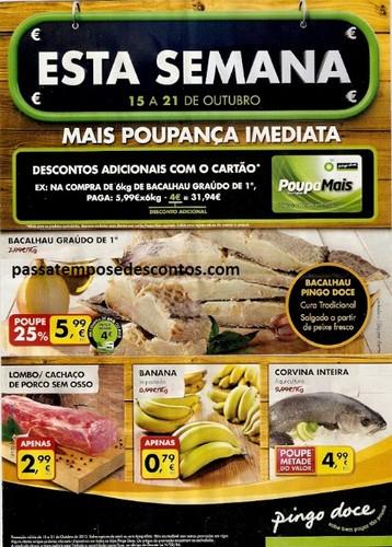 Antevisão Folheto, Pingo Doce, de 15 a 21 de Outubro