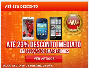 Promoção Worten - até 23% de desconto imediato, em SmartPhones