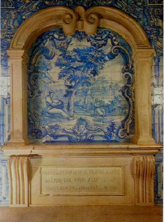 Túmulo de madre Maria do Lado, capela-mor. Op. ci