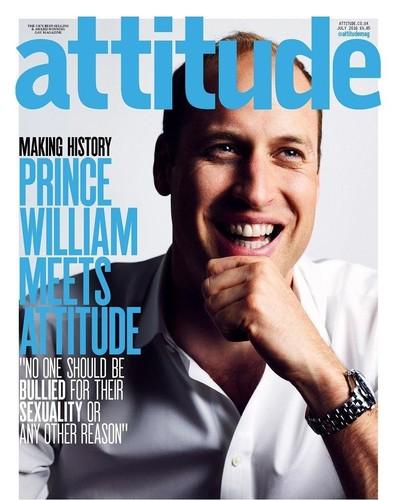 O William, princípe, na capa de Julho da  Attitud