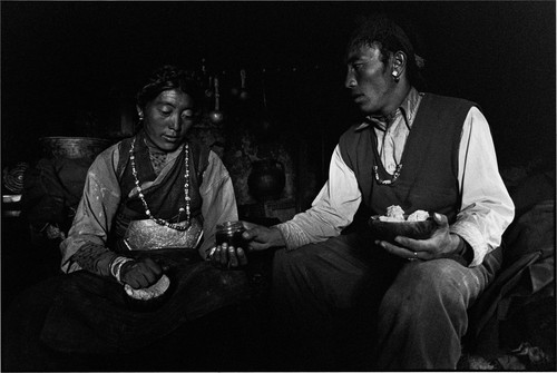TIBET. 2002. Couple at mealtime.jpg