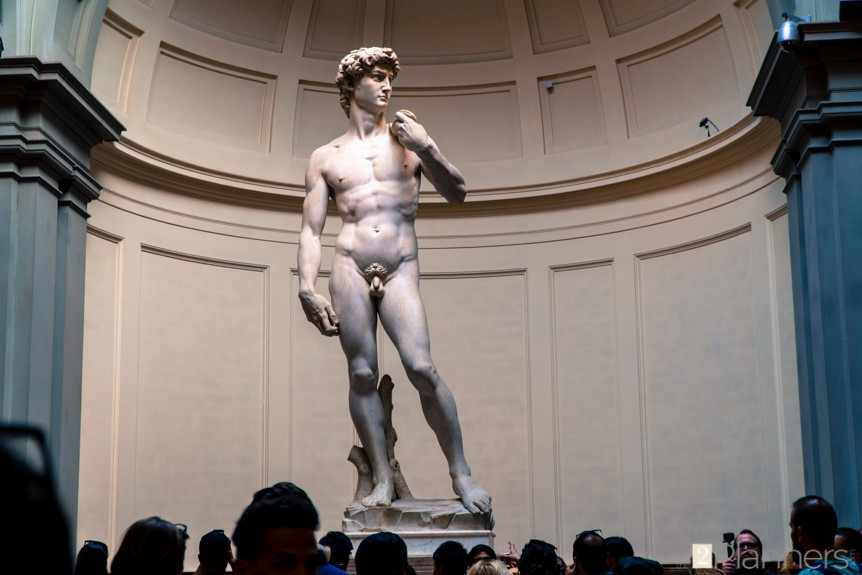 The 2 Planners - David by Michelangelo - sculpture - Florence, Italy