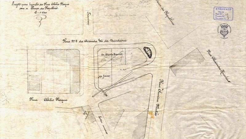 Fig. 19. Projeto para ligação da Rua Abílio Roq