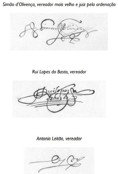 AHMC. Livro dos Acordos ... 1569, assinaturas 1.pn