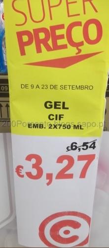 Gel Cif Super Preço até 23 de Setembro