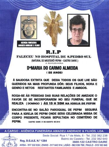 RIP2- DE MARI A DO CARMO DE ALMEIDA-88 ANOS (PEPIM