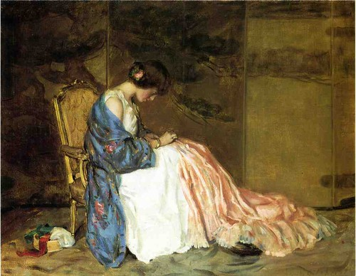 William-Wallace-Gilchrist-Jr-xx-Girl-Sewing-The-Pa
