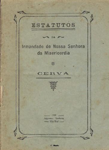 Vila de Cerva - Misericordia de Cerva - Estatutos.
