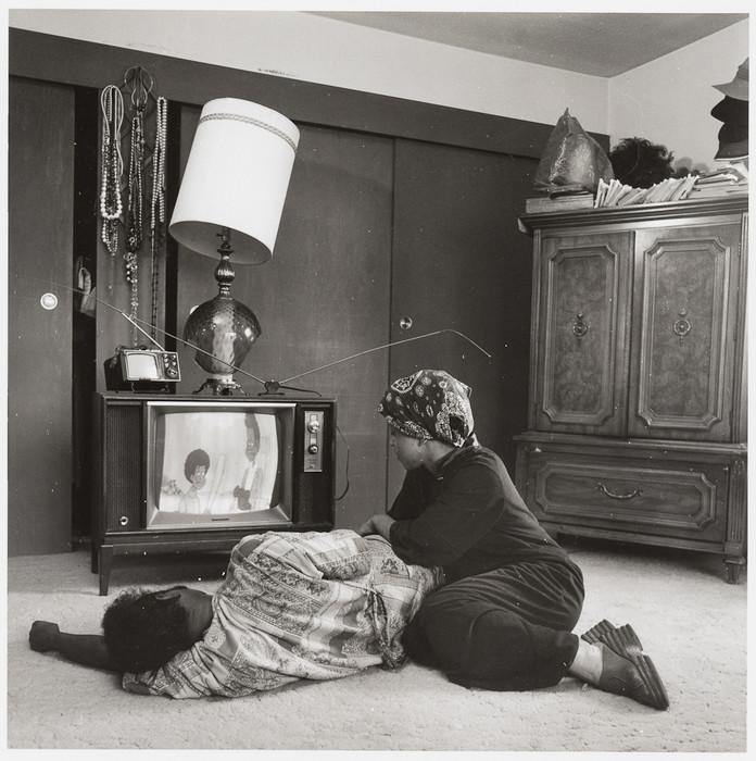 Couple watching TV, West Berkeley, CA, 2018 Joanne